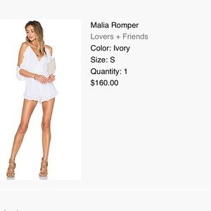 Lovers and friends romper from revolve